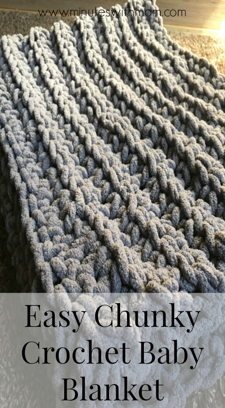 Chunky Crochet Baby Blanket with FREE PATTERN!
