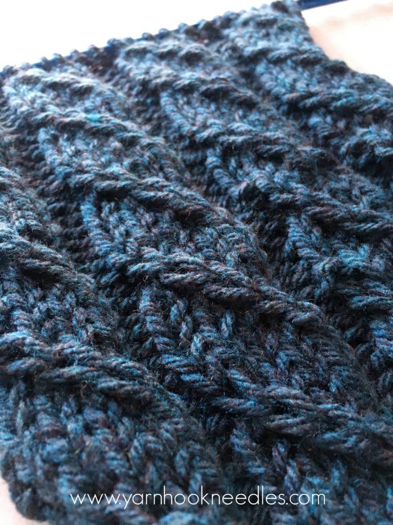Twisted Trill Knitting Stitch With Free Pattern Link Yarnhookneedles