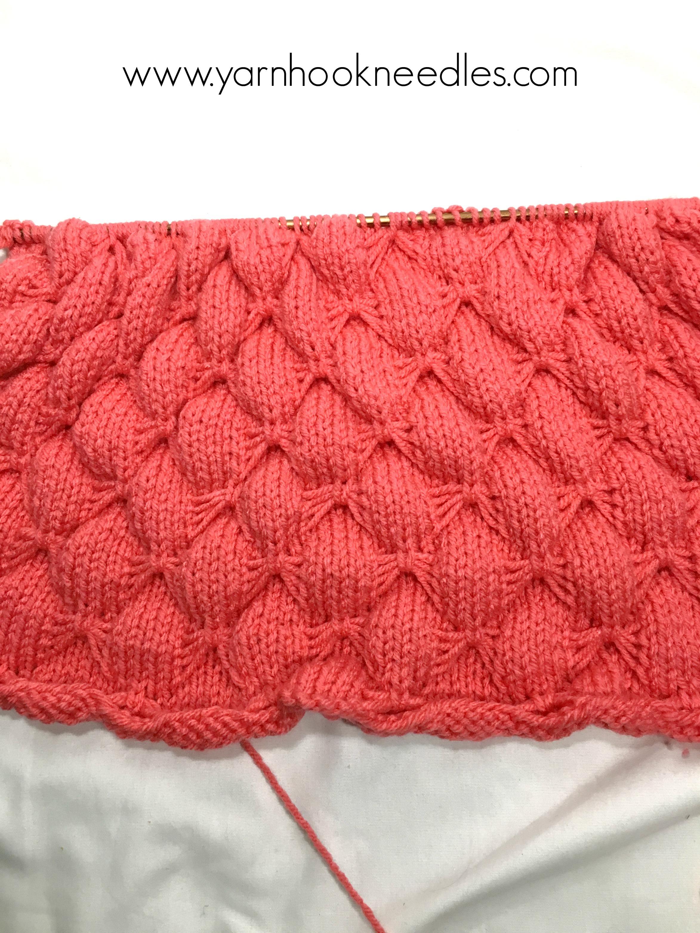 The Butterfly Knit Stitch Pattern - Yarn|Hook|Needles - YarnHookNeedles