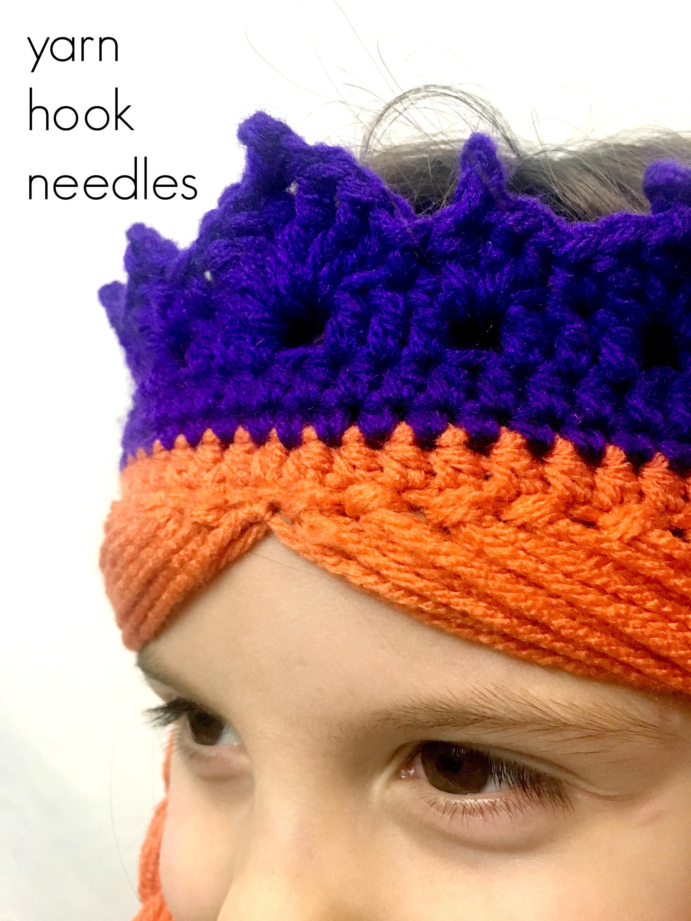 Crochet Anna Crown With Hair Free Pattern Yarn Hook