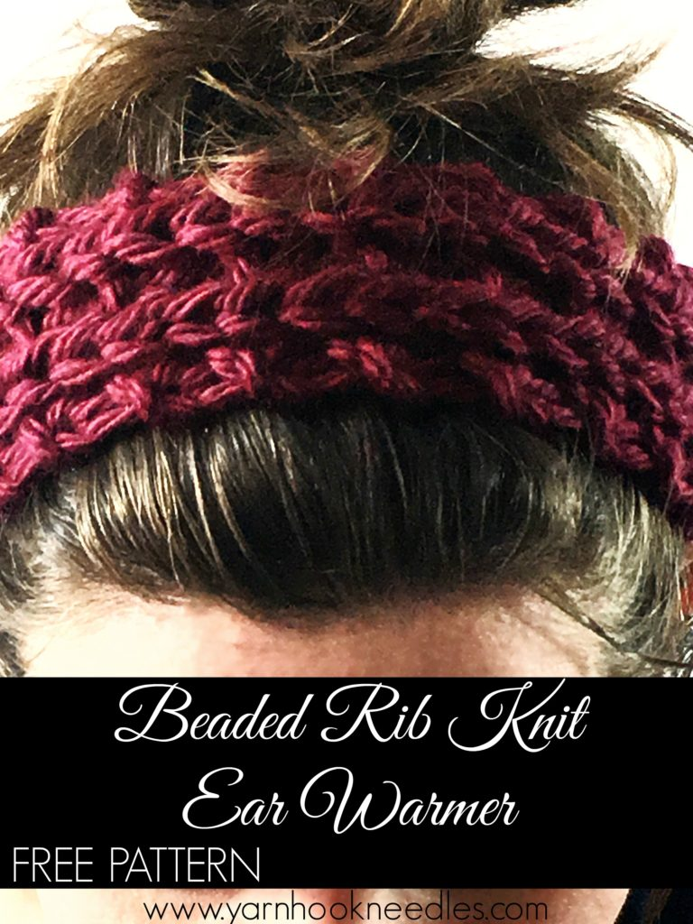 Chunky Beaded Rib Knit Ear Warmer with FREE Pattern! - YHN