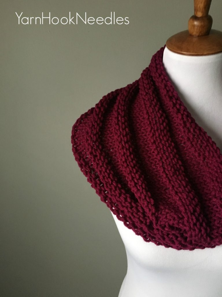 The Ridgeline Knit Cowl With Free Pattern Yarnhookneedles