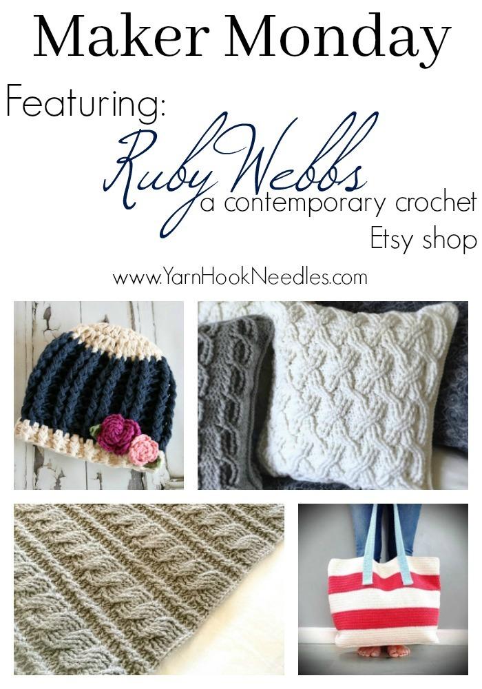 Maker Monday: rubywebbs A Contemporary Crochet Pattern Etsy Shop ...