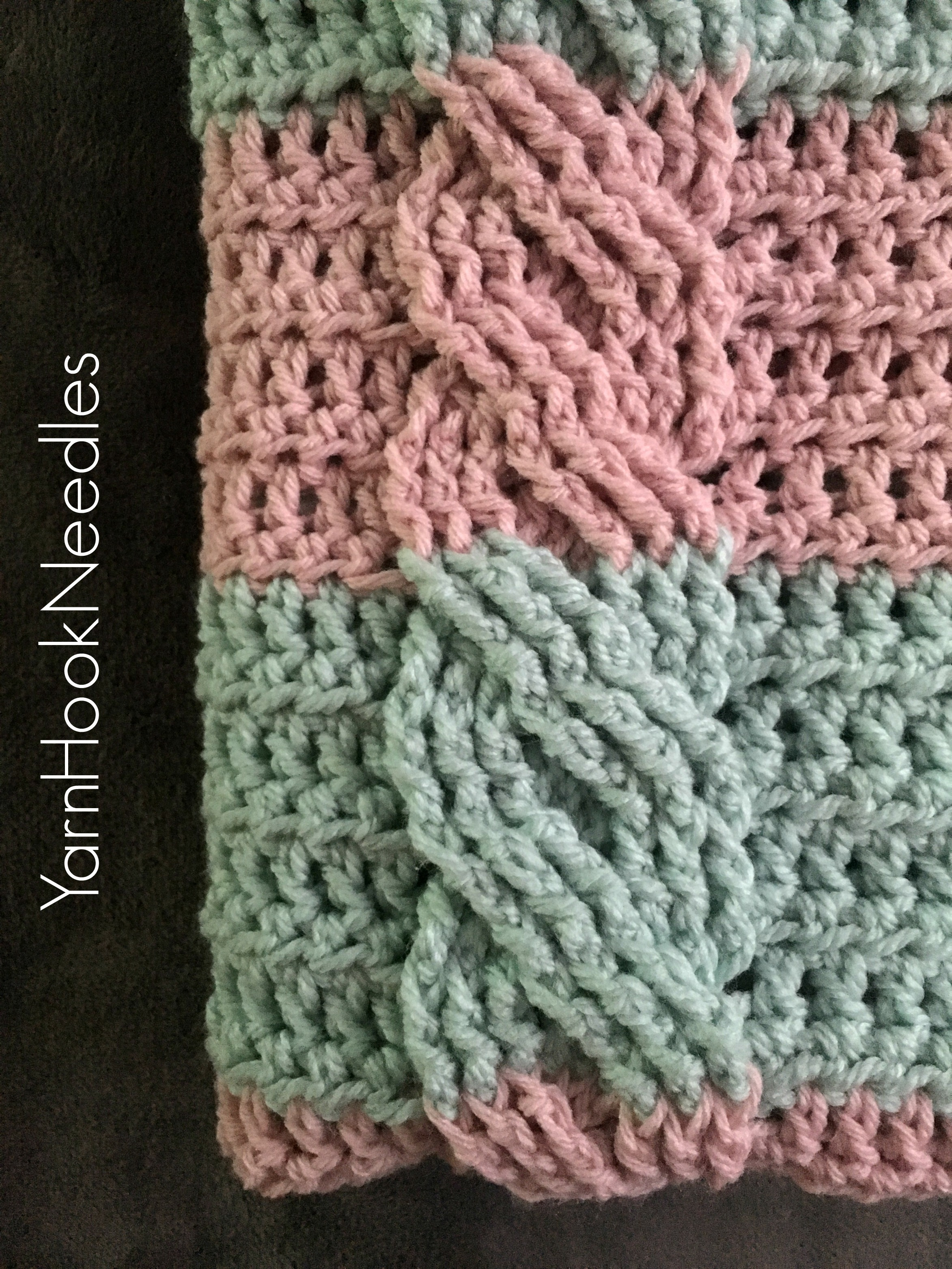 crochet cable blanket with free pattern
