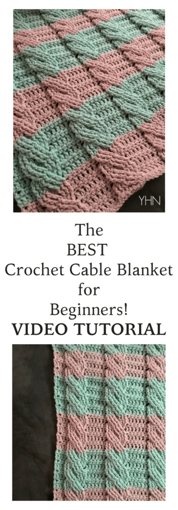 Crochet Cable Blanket with FREE Pattern! - YarnHookNeedles ...