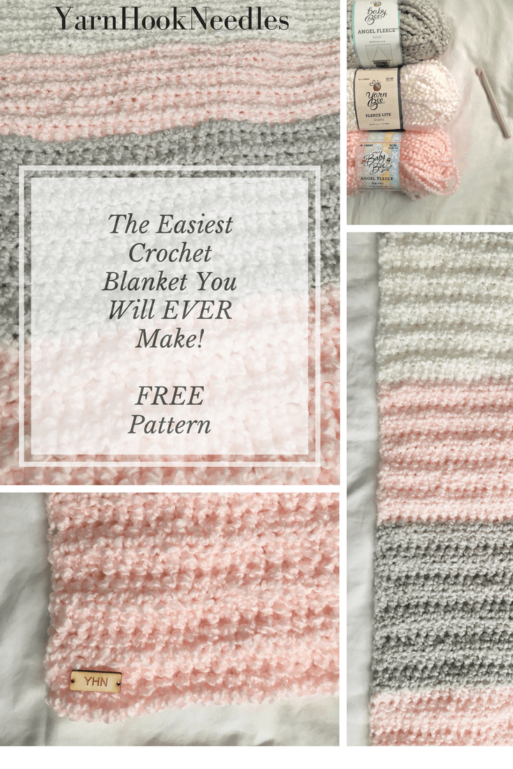 The Easiest Crochet Blanket You Will Ever Make with a FREE Pattern ...