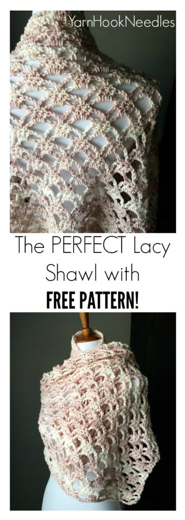 The Perfect Lacy Crochet Shawl With Free Pattern Yarnhookneedles