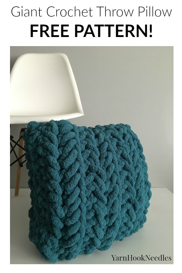 The Best Giant Crochet Pillow Cover With A Free Pattern