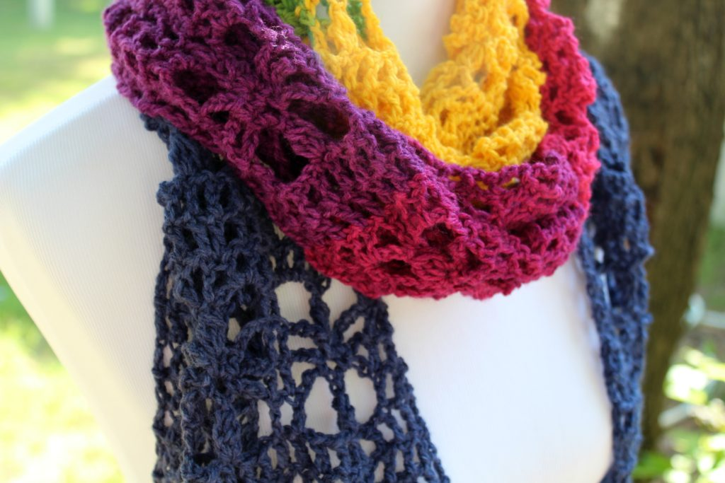 The Webster Mandala Scarf With A Free Crochet Pattern Yarnhookneedles