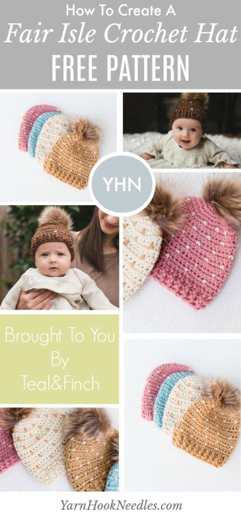 Learn How To Crochet A Fair Isle Beanie Yarnhookneedles