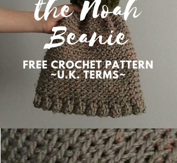 The Noah Crochet Beanie FREE Pattern – UK Terms