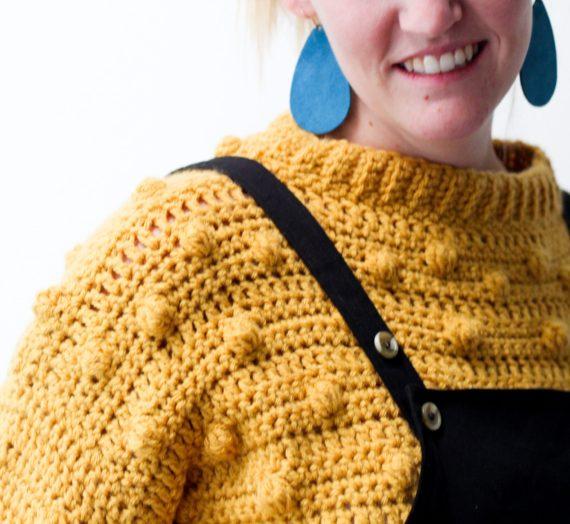 The Best Bobble Stitch Crochet Sweater FREE Pattern!