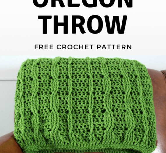 Make This Easy Crochet Cable Throw FREE Pattern