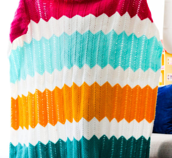 How To Make The Tunisian Crochet Playhouse Blanket!